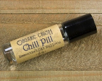CHILL PILL Essential Oil Roll-On | Calming Essential Oils | Anti-Anxiety | Essential Oils for Stress Relief | Essential Oils for Depression