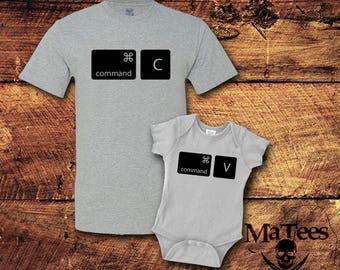 Copy Paste, Copy Paste Shirts, Copy Paste Father Baby, Fathers Day Gift, Fathers Day, Father Son Matching Shirts, Father Son Shirt,
