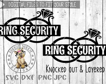 Ring Security Wedding Rings - svg, dxf, png, jpg - cameo, silhouette,  Cricut & Studio Cut File
