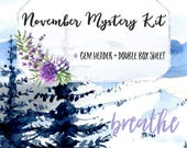 BREATHE (November Mystery) Gem & Double Box Stickers | 44 Stickers | Planner Stickers | For Erin Condren LifePlanner