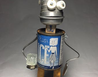 One Cool Tin - Assemblage Art Robot Sculpture