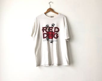 RED DOG SHIRT // 1995 // X-Large  // Beer Shirt // Beer T-Shirt // Beer Shirt // Red Dog Beer // Beer Shirt // Beer T-Shirt // 90s Beer