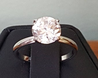 Sterling Silver Ring Cubic Zirconium