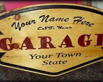 Personalized Garage Sign, Garage Established, Mechanic Gift, Father Gift, Husband Gift, Son Gift, Man Cave, Car Repair Shop Sign