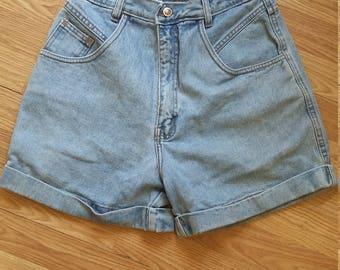 High waisted 90's shorts. Denim shorts. Bill Bass 90's hipster shorts.