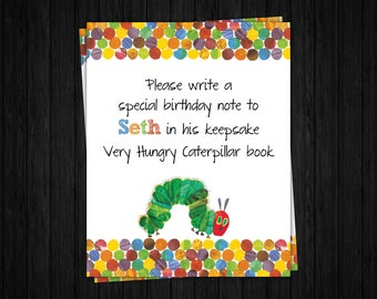 Hungry Caterpillar Guestbook Sign ONLY, Hungry Caterpillar Birthday, Hungry Caterpillar Thank You, Hungry Caterpillar Party Supplies