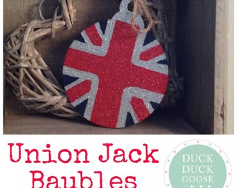 Union Jack Bauble by Duck Duck Goose