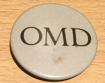 OMD Orchestral Manoeuvres In The Dark Vintage Pin Badge