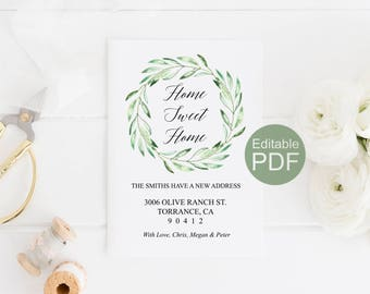 moving home cards template - moving announcement etsy