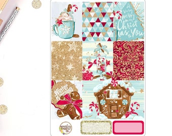 Gingerbread Weekly Kit for use in Erin Condren
