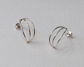 Stud Earrings Silver, Earring studs, 20 gauge cartilage earring, Helix earring stud, Cartilage piercing, Helix piercing, Conch earring