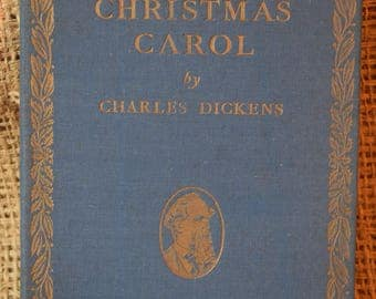 A Christmas Carol. Charles Dickens. Illustrated Gilbert Wilkinson. Oldham Press. Daily Herald Scheme. Complete Works. Vintage Hard Back Book