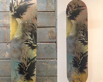 original skateboard art painting - Custom Skateboard wall art painting, skateboard gift, paint skateboard, gift idea, for him for her, wood
