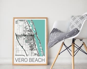 Vero Beach / Vero Beach Poster / Vero Beach Map /Vero Beach Print  / Map Print / Vero Beach Print  / Vero Map / Wall Art