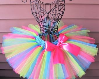 Neon Tutu, Birthday Tutu, Dress Up, Colorful Tutu, Handmade Tutu, Toddler Tutu, Tutu Skirt Baby, Smash Cake Tutu