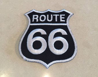 Route 66 iron on patch