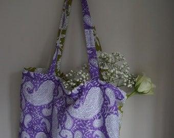 Indian block print tote bags