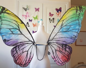 Rainbow Butterfly Wings - Statement Wings