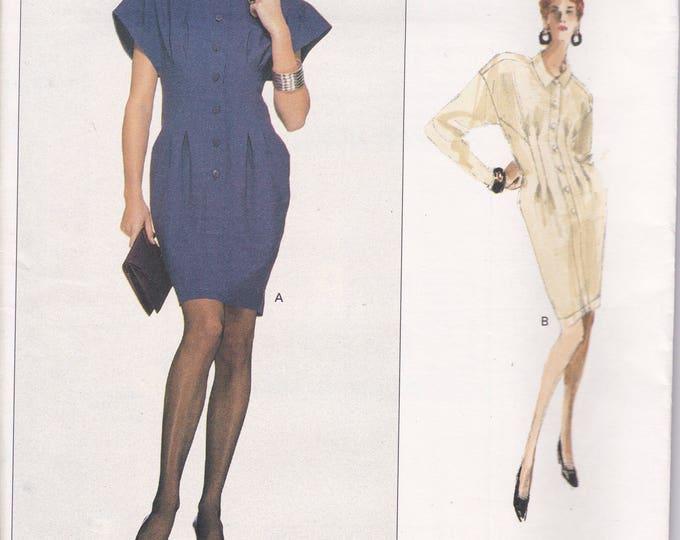 Free Us Ship Sewing Pattern Vogue 2087 Vintage Retro 1980s 80s Designer Karl Lagerfield  Drop Shoulder Dress Size 10 Bust 32.5 Uncut