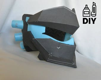 DIY Overwatch Genji's Blackwatch mask template for EVA foam