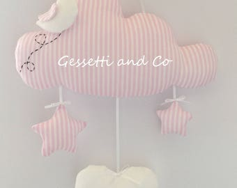 Stitchable pink mod. Cloud with customizable name