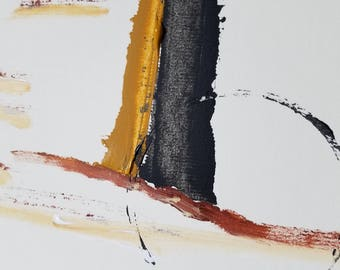 "Mixed Media Acrylic Painting ""Minerals"""