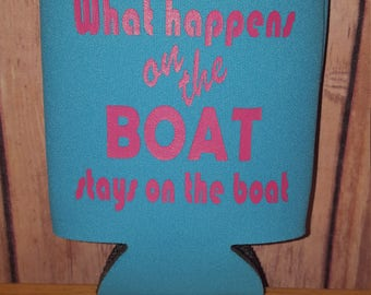 What happens on the boat can cooler