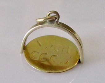 9ct Gold Good Luck Spinner Charm or Pendant