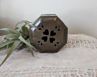 Brass Box with Heart Detail / Ring Box