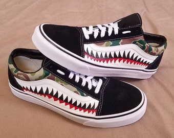 Bape Shark Bite Custom Vans