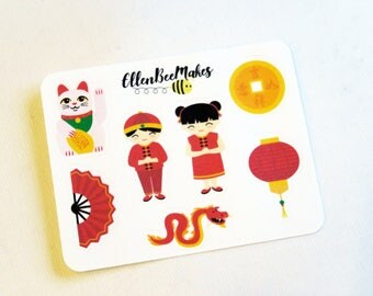 Mini Chinese New Year Sticker Sheet