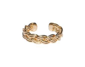 Hannah ring - beautiful gold braided ring