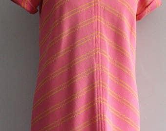 Vtg 60's Frank Usher Pink Dress