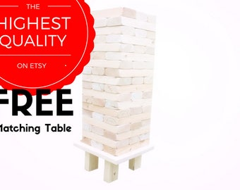 2x4 Giant Jenga Inspired Tumble Block Stacking Tower Outdoor Yard Lawn Game Tailgate Wedding Party Fun Sport Backyard Summer holiday