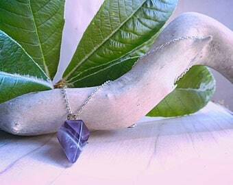 Amethyst Pendulum Necklace