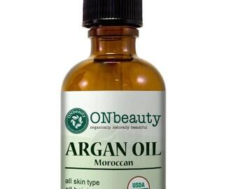 USDA Certified Organic Argan Oil - Free Hair Care and Skin Care E-book