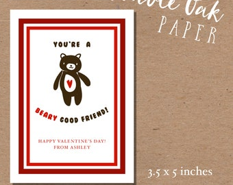 Beary Good Friend Valentine • 3.5x5inches
