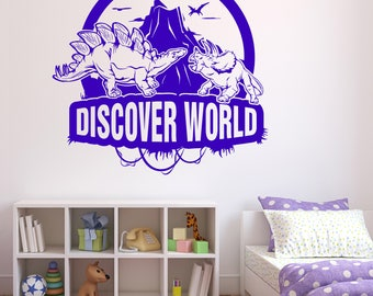Large Wall Vinyl Decal Fantasy for Kids Game Room Discover Adventure World (2512dz)