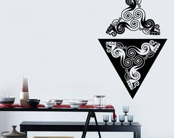 Wall Art Mural Decal Sticker Animal Style Pattern Living Room Decor  (#2481dn)