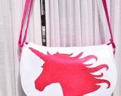 Unicorn Rosie Crossbody - Unicorn Purse - Glitter Crossbody - Mythical Creature Bag - Sparkle Purse - Girls Purse - Teen Gift - Travel Bag