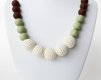 Earth Tones Teething Necklace