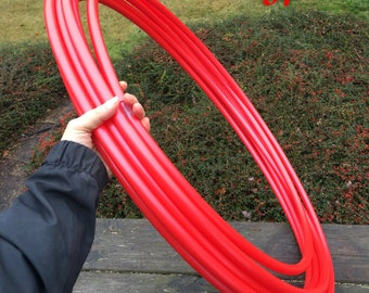 "5/8"" Red Polypro Hula Hoop"