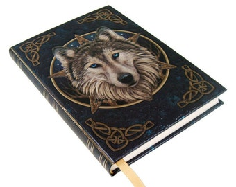 Embossed Journal The Wild One, Wolf Notebook, Game night, Notepad, Repear Book, Spell Book, Magic, Notebook, Journal