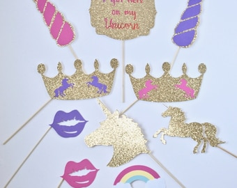 Unicorn Photo Props (10pc)