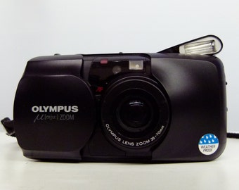 90'S Olympus Mju Zoom 35mm Compact Camera With Power Zoom 35mm-70mm - Very Retro!