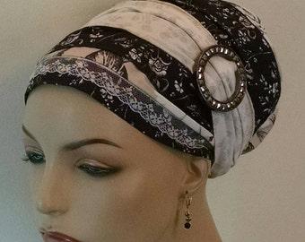 Neutral pallet cotton sinar tichel, tichels, head scarves, chemo scarves, hair snoods, head wraps