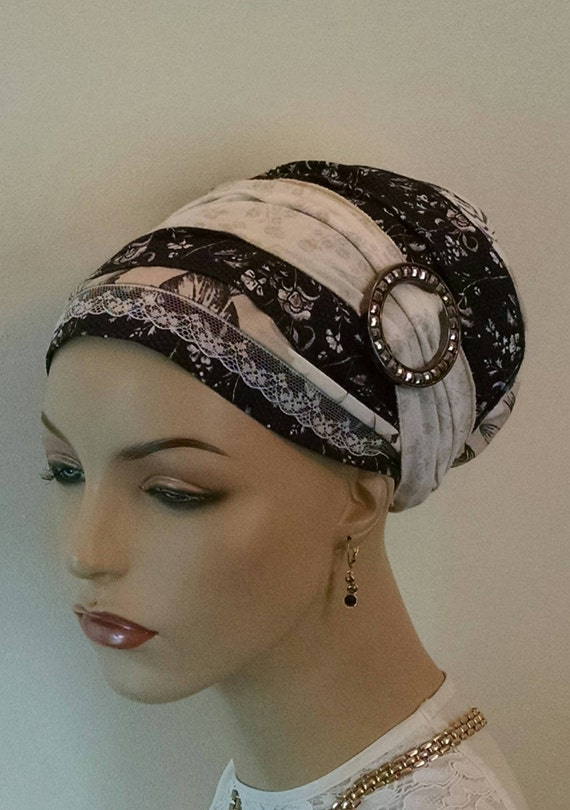 Neutral pallet cotton sinar tichel, tichels, head scarves, chemo scarves, hair snoods, head wraps