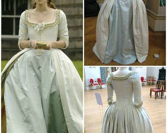 The duchess inspired Marie Antoinette dress 18th century gown robe a l'anglaise rococo versailles colonial georgian choose your colour
