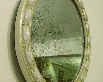Antique Ceramic Framed Wall Mirror