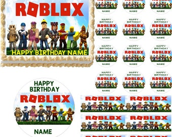 Roblox Edible Cake Topper Image Frosting Sheet, Roblox Cake, Roblox Cupcakes, Roblox Party Supplies, Roblox Birthday, Edible Images, Roblox